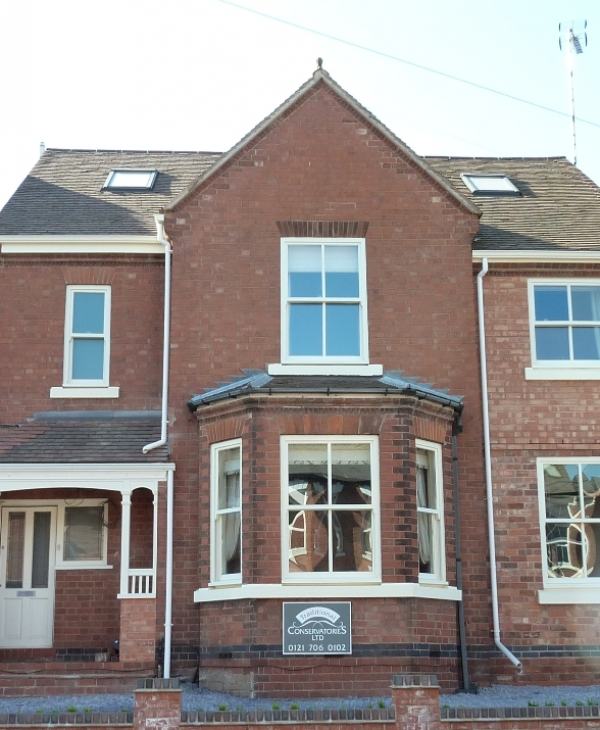 Bespoke Timber Porch and Sash Windows by Traditional Conservatories
